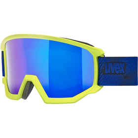 UVEX Athletic FM Gogle, lime mat/fullmirror blue